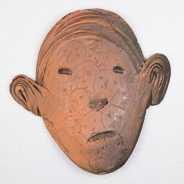 "Andy Nasisse Andy Nasisse, Head Platter, 13.5 x 14 x 2"""