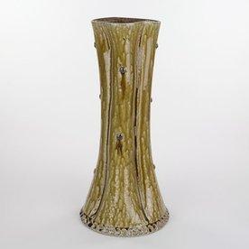 "Mark Hewitt Mark Hewitt, Tall Fluted Vase, 16.5 x 7.5"" dia"