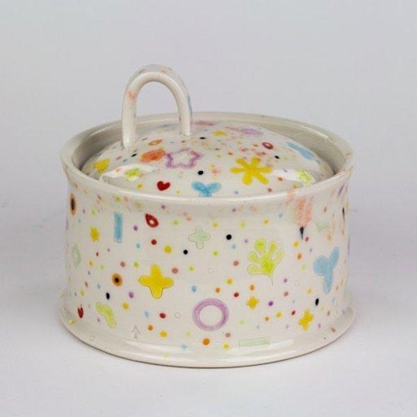 "Masa Sasaki Masa Sasaki, Rice Server, porcelain, glaze, 3.5 x 6"","