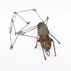 Gabrielle Gould Gabrielle Gould, Poppy Garden Beetle Locket w/worm, silver