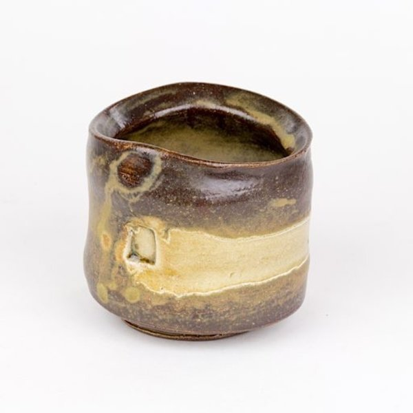 Shadow May, yunomi, wheel thrown stoneware, glaze, 4x3.75