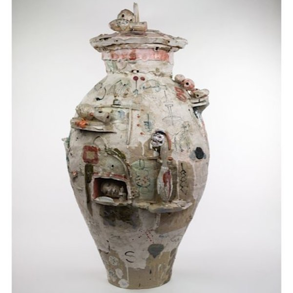 """Ted Saupe, The Man Who Went To Sea, earthenware, 31.5x16.5x15"""""""