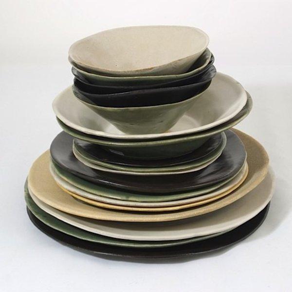 Joan Platt, Sand Lunch/Salad Plate, stoneware, glaze, 8.75&quot; dia<br />Care: dishwasher, microwave safe