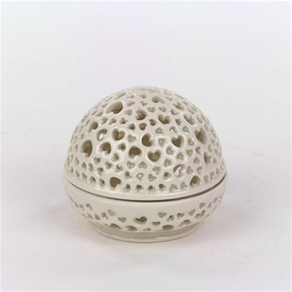 Masa Sasaki Masa Sasaki, Tea Candle Jar, porcelain, glaze, 3.5 X 3.75 dia