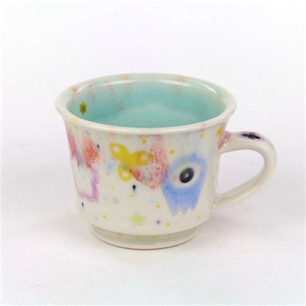 """Masa Sasaki Masa Sasaki, Princess Mug, porcelain, glaze, 3.25 X 4.75 x 4"""""""