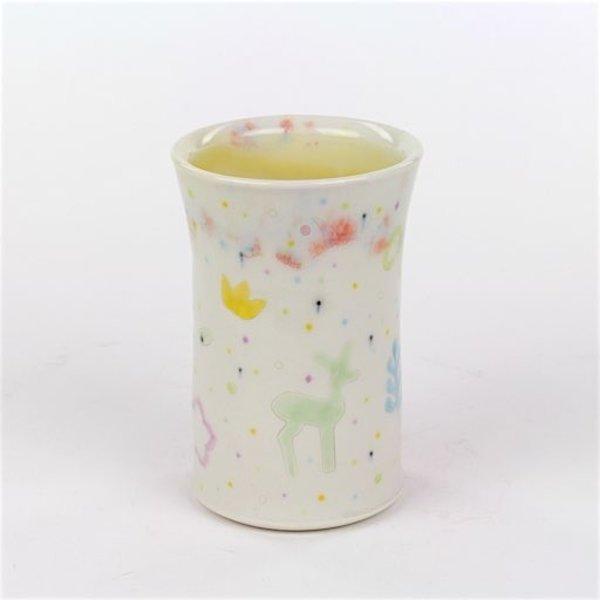 """Masa Sasaki Masa Sasaki, Princess Tumbler, porcelain, glaze, 5 X 3.5"""""""