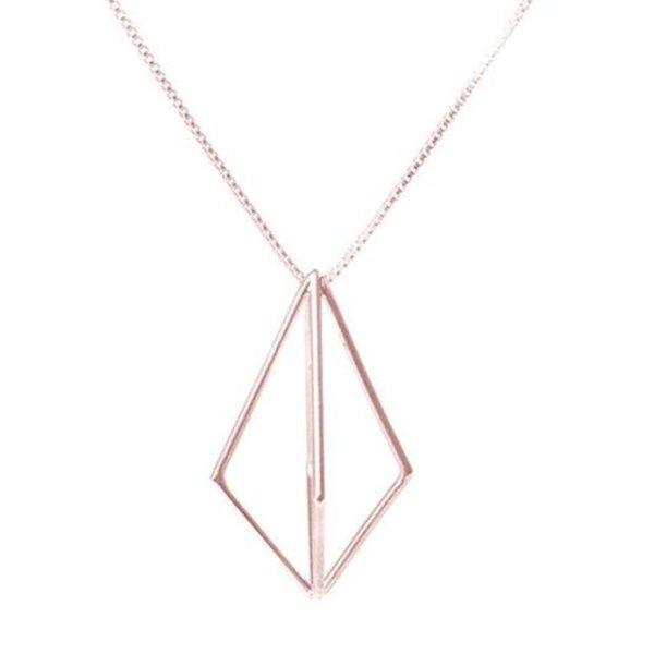 Sarah Loertscher, Structure pendant, 18k pink gold vermeil