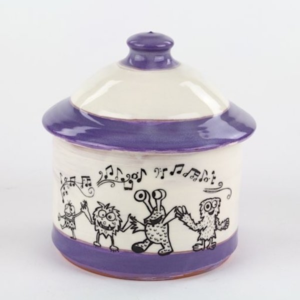 """Erik Haagensen Erik Haagensen, Jar, earthenware, 5.5 x 5.25 diameter"""""""