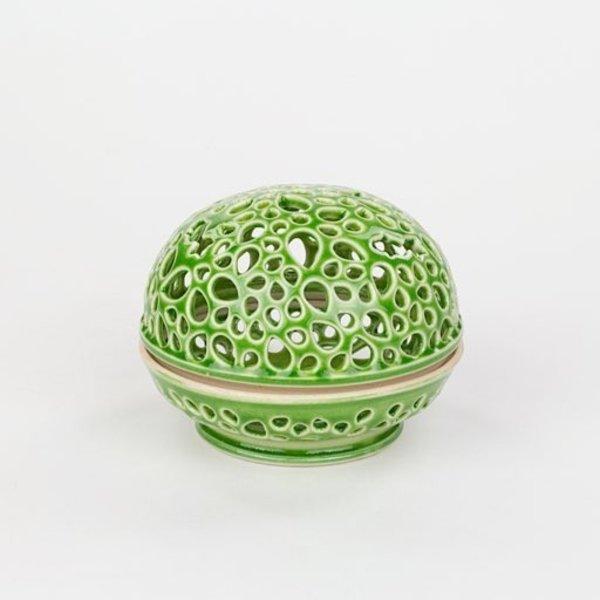 Masa Sasaki Masa Sasaki, Tea Candle Jar, porcelain, glaze, 3 X 3.5 dia