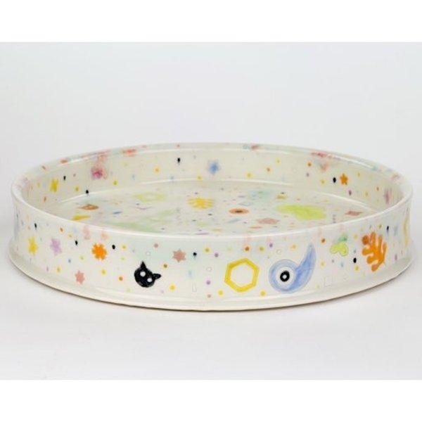 Masa Sasaki Masa Sasaki, Princess Plate, porcelain, glaze, 1.5 X 10.25