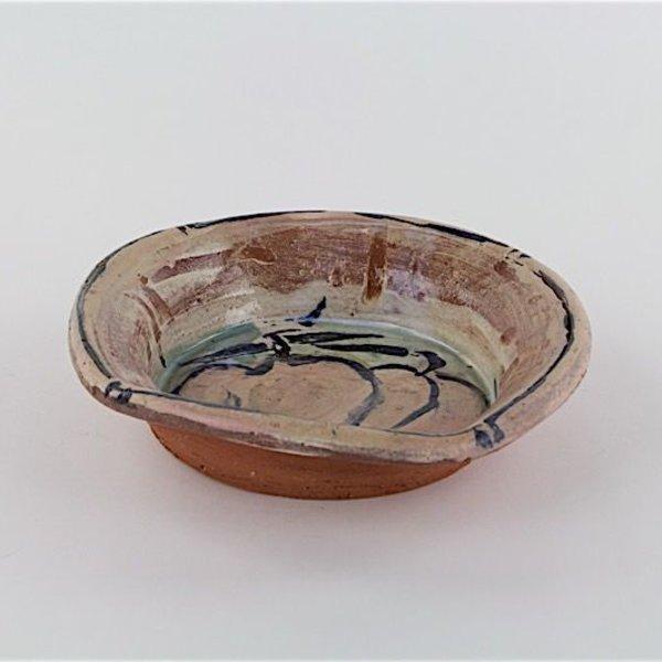"Ron Meyers Ron Meyers, Peach Bowl, earthenware, 2.25 x 9"" dia"