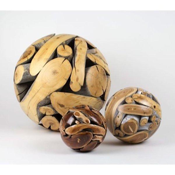 "Roger Asay and Rebecca Davis Roger Asay & Rebecca Davis, Painted Sphere 3, elm, 8""dia"