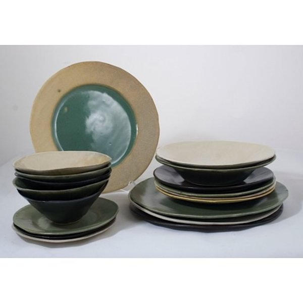 "Joan Platt, Black Spaghetti Bowl, stoneware, glaze, 8.5"" dia,Care: dishwasher, microwave safe"