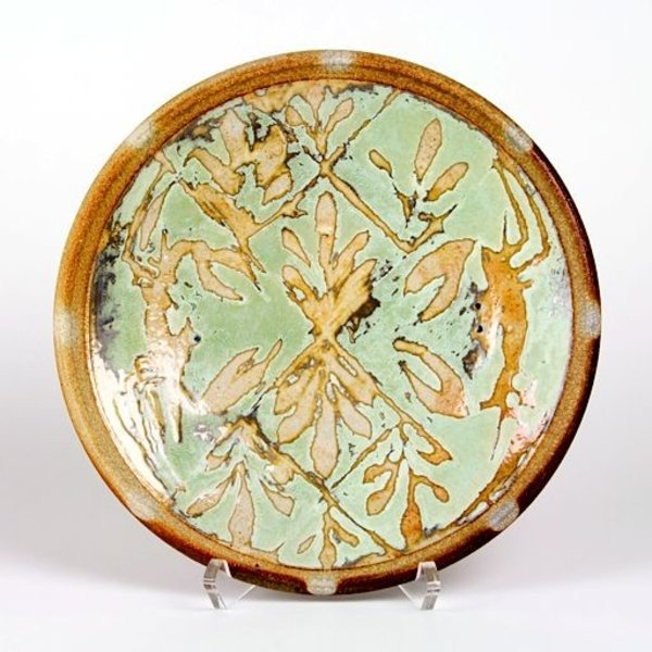 """Ken Sedberry, Dinner Plate with Crab, porcelain, wood-fired, 10.5"""""""