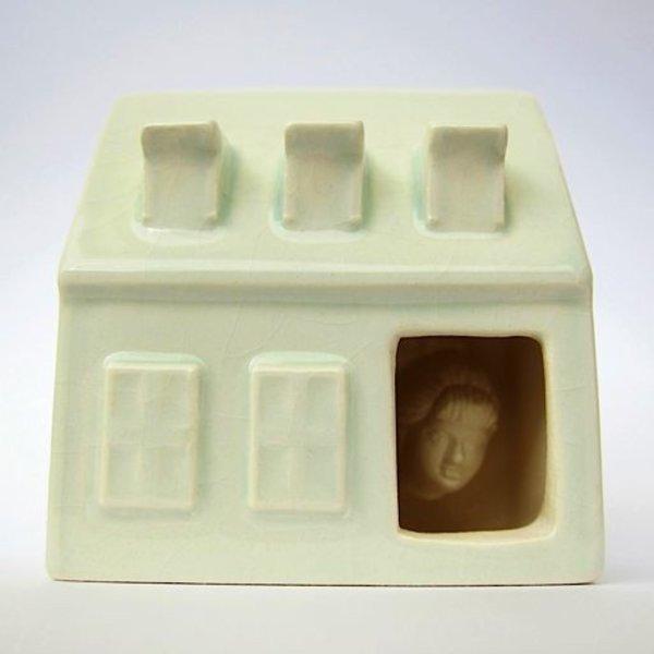 """Irianna Kanellopoulou, Open House II, ceramic, glaze, 2.125 x 2 x 1.25"""""""