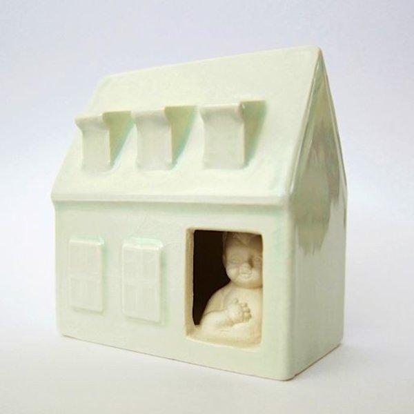 """Irianna Kanellopoulou, Open House I, ceramic, glaze, 2.125 x 2 x 1.25"""""""
