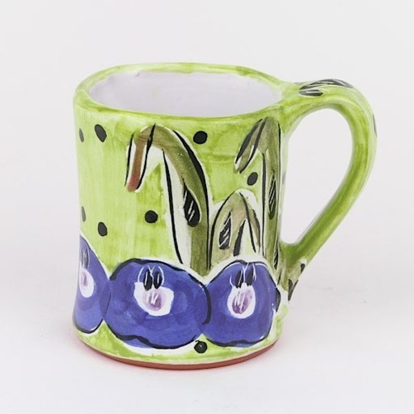 Posey Bacopoulos Posey Bacopoulos, Mug, majolica,4.5 x 5 x 3.5