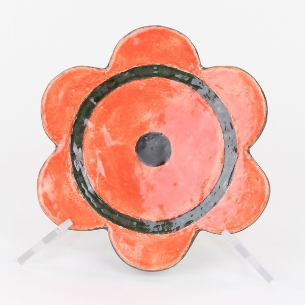 "Holly Walker, Plate, terra cotta, glaze, 1.75""h x 8"" dia,"