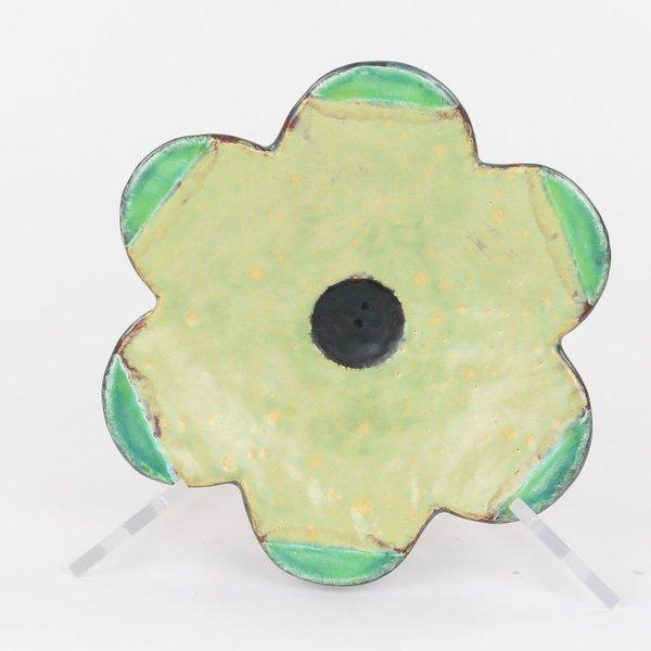 """Holly Walker, Mazurka Plate, terra cotta, glaze, 1.75""""h x 8"""" dia"""