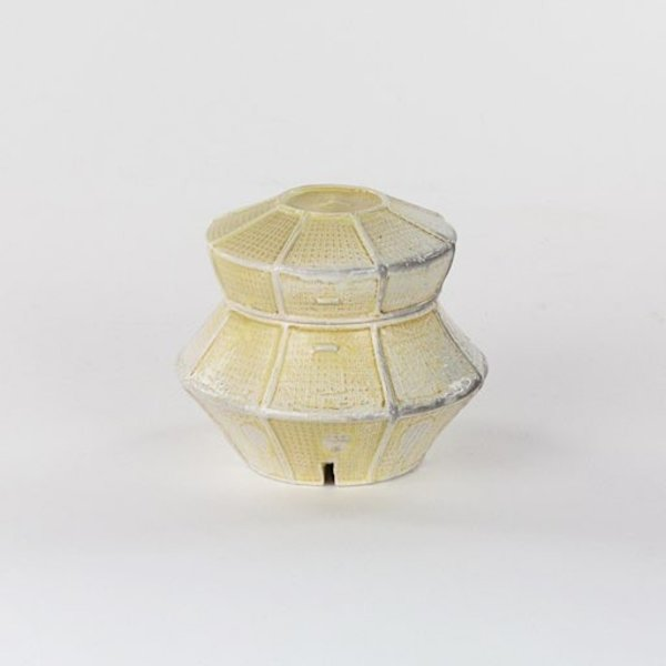 "Kenyon Hansen, Jar, soda-fired stoneware, 4 x 7.5 x 5"""