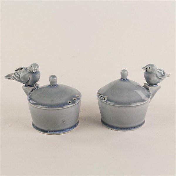 """Steve Godfrey Steve Godfrey, King Bird on Buttress Salt & Pepper Shaker, 3 x 4.5 x 3"""""""