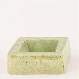 Joe Pintz Joe Pintz, Block Salt Cellar - Green, handbuilt earthenware