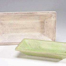 Joe Pintz Joe Pintz, Medium Rectangular Tray- green, handbuilt earthenware