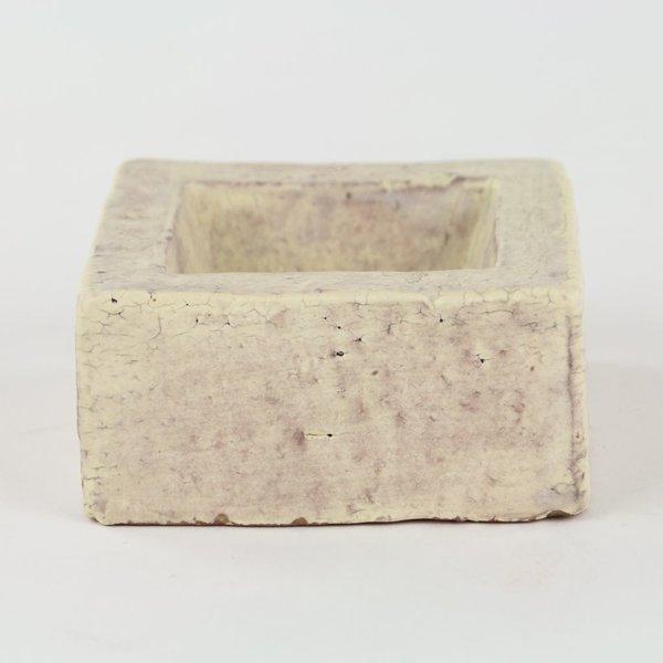 Joe Pintz Joe Pintz, Block Salt Cellar-Pink, handbuilt earthenware