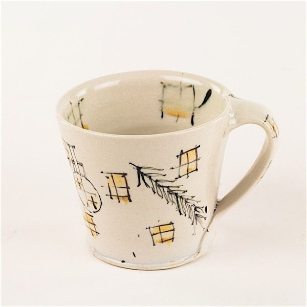 Ted Saupe Ted Saupe,  Mug, earthenware, 3 x 4.25 x 3.5""
