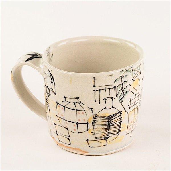 """Ted Saupe Ted Saupe,  Mug, earthenware, 3.25 x 4.75 x 4"""""""