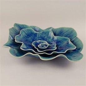 "Kate Tremel Kate Tremel, Varigated Nest Bowls, Three Pieces, 3.25 x 16.25 x 12"""
