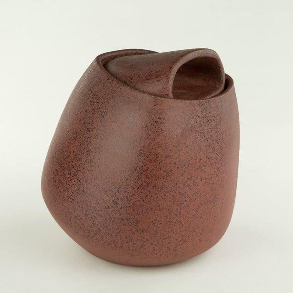 Noah Riedel, Lidded Jar, 7.75 x 7 x 6.75