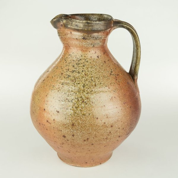 "Geoff Pickett, Pitcher, woodfired, 10.25 x 8"" dia"