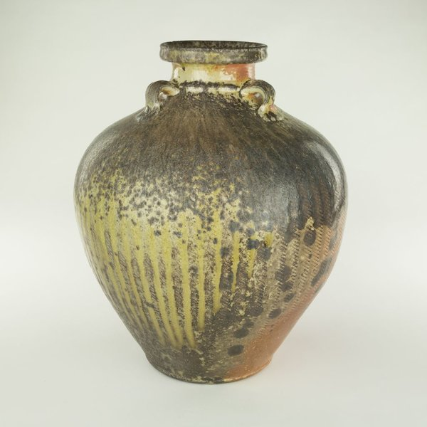 "Geoff Pickett, Bottle, woodfired,14 x 12"" dia"