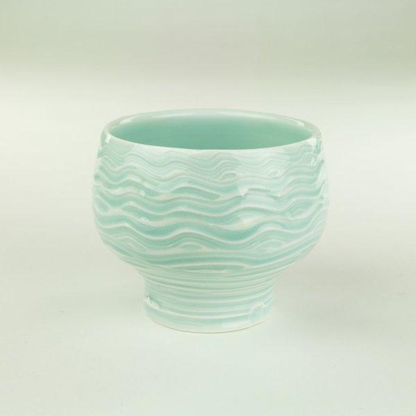 """Derek Au Derek Au, Cup, porcelain, slip, glaze, 4 x 4"""" dia"""