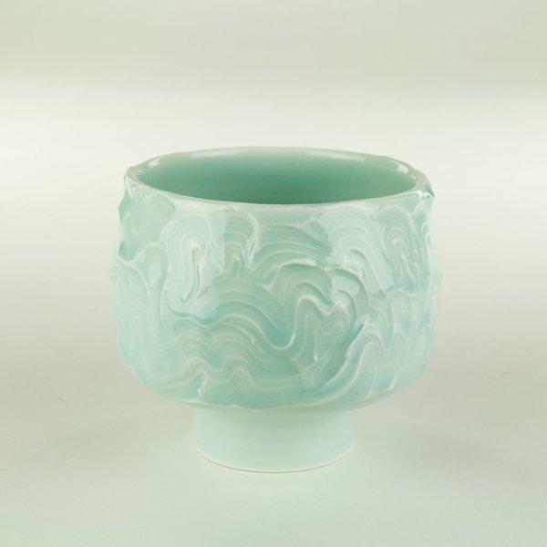 """Derek Au Derek Au, Cup, porcelain, slip, glaze, 3.75 x 3.75"""" dia"""