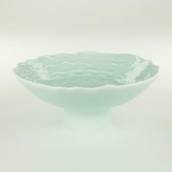 "Derek Au Derek Au, Bowl, porcelain, slip, glaze, 3 x 7"" dia"
