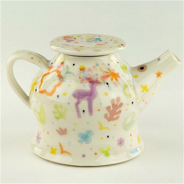 """Masa Sasaki Masa Sasaki, Princess Teapot, porcelain, glaze, 5.25 X 8 X 5.25"""""""