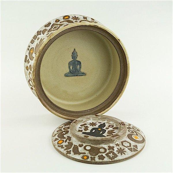 """Masa Sasaki Masa Sasaki, Buddha Jar, black mountain clay, glaze, 4.25 X 9"""""""