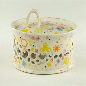 """Masa Sasaki Masa Sasaki, Princess Garlic Keeper, porcelain, glaze, 5 X 6"""""""