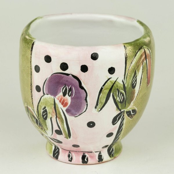 Posey Bacopoulos Posey Bacopoulos, Teabowl, majolica, gold lustre