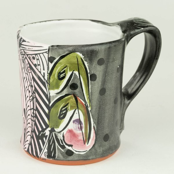 Posey Bacopoulos Posey Bacopoulos, Square Mug, majolica