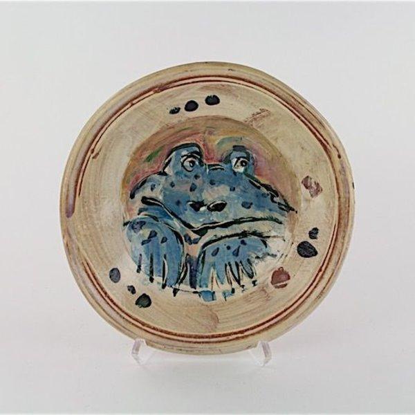 "Ron Meyers Ron Meyers, Frog Bowl, earthenware, 2.25 x 9.5"" dia"