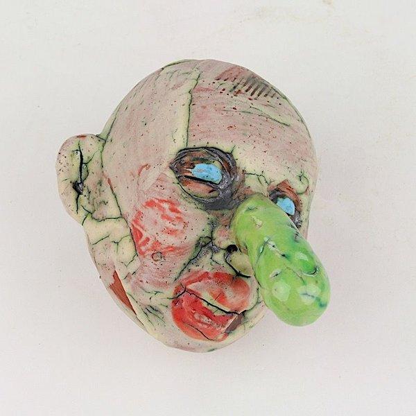 "Tom Bartel Tom Bartel, Small Head (Green Nose) , 4 x 2.25 x 3.75"""