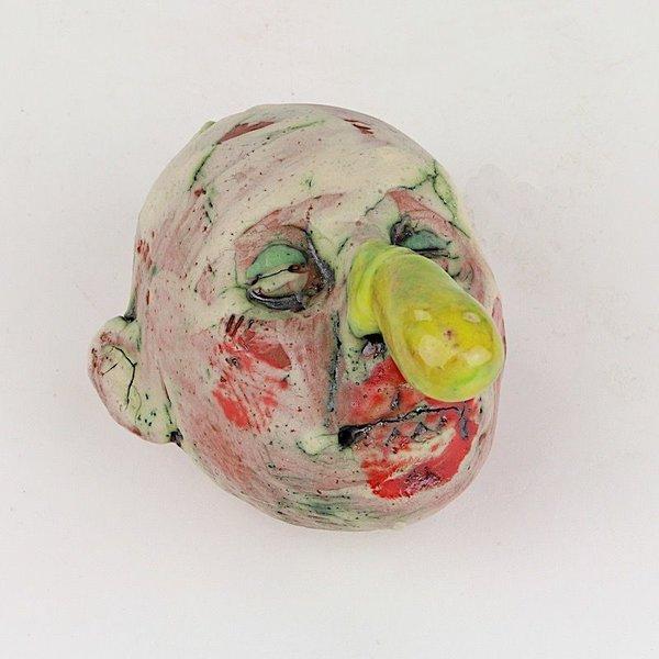 "Tom Bartel Tom Bartel, Small Head (Yellow Nose) , 3.75 x 2 x 3.5"""