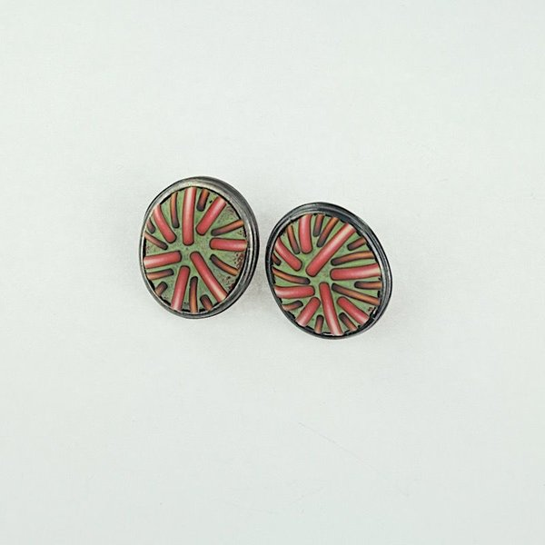 Ford & Forlano, Oval Button Earrings