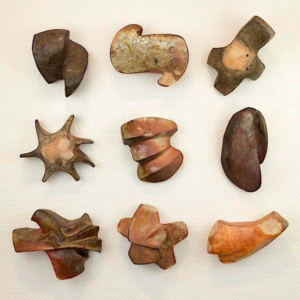 Eric Knoche Eric Knoche, Miscellaneous Cuneiform, stoneware with slips, wood-fired
