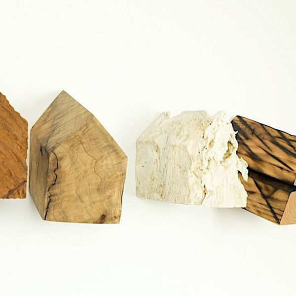 "Jack Slentz, House Series, Set of Five, various woods, 6 x 36 x 7"" deep"""
