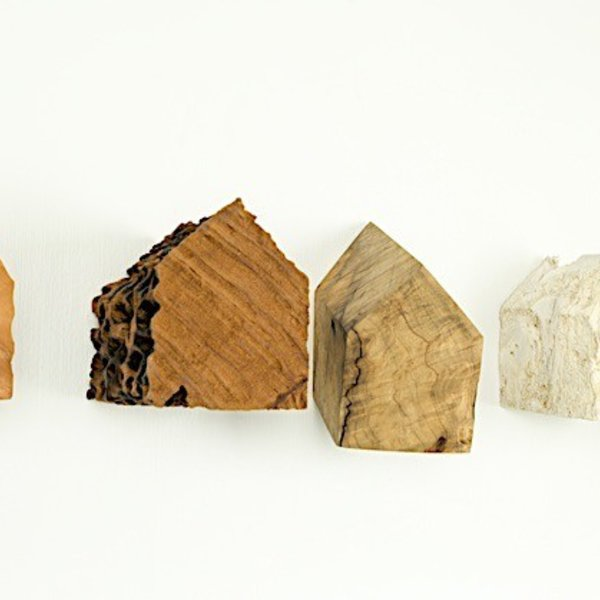 "Jack Slentz, Large House, individual, various woods, 6.5 x 8 x 7"" deep"