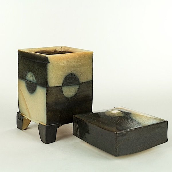 Michael Simon, Persian Jar, earthenware, 8 X 4.5 x 4.5""